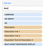 Not all responsive search ad fields are availablke.