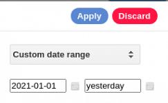 Cómo se mantiene la fecha de término en un periodo costuizado